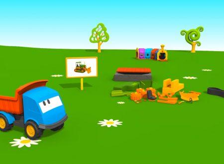 Cartoni Animati per Bambini: Leo il Camion Curioso e il Bulldozer