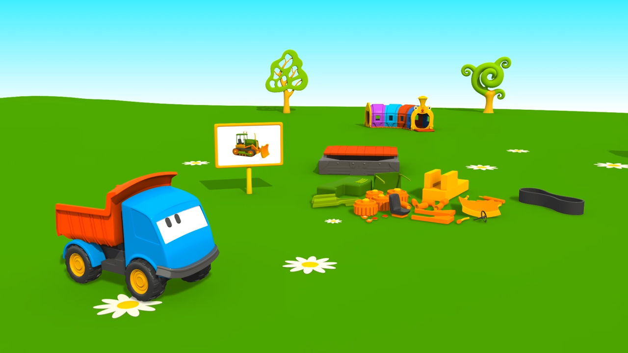 Cartoni Animati per bambini: Leo  e il Bulldozer
