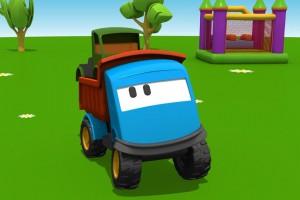 Cartoni Animati per bambini: Leo il Camion Curioso gioca con i grandi camion