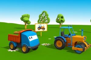 Cartoni Animati per Bambini: Leo il Camion Curioso e il Rullo Compressore