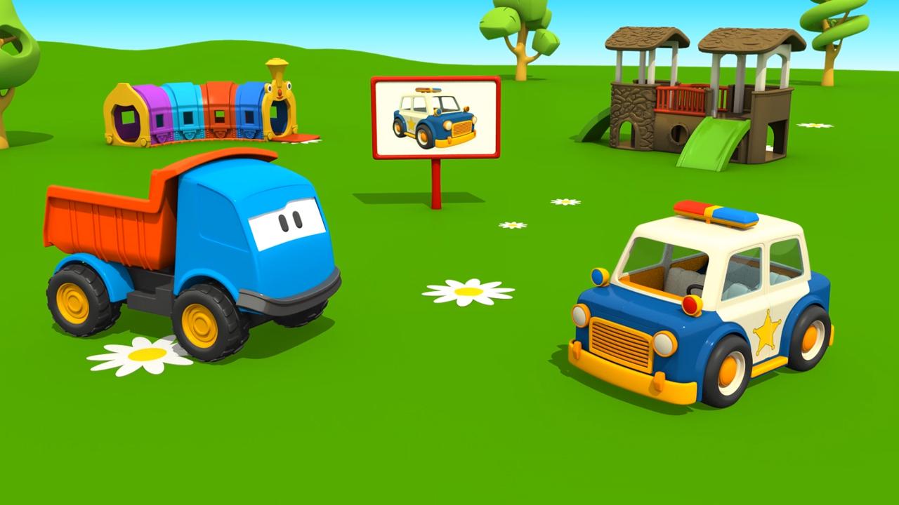 Cartoni animati leo il camion curioso e la macchina della