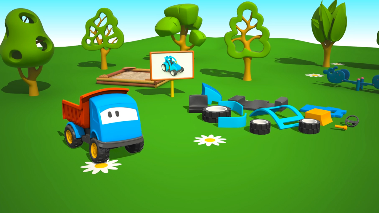 Cartoni Animati per bambini: Leo e il Trattore