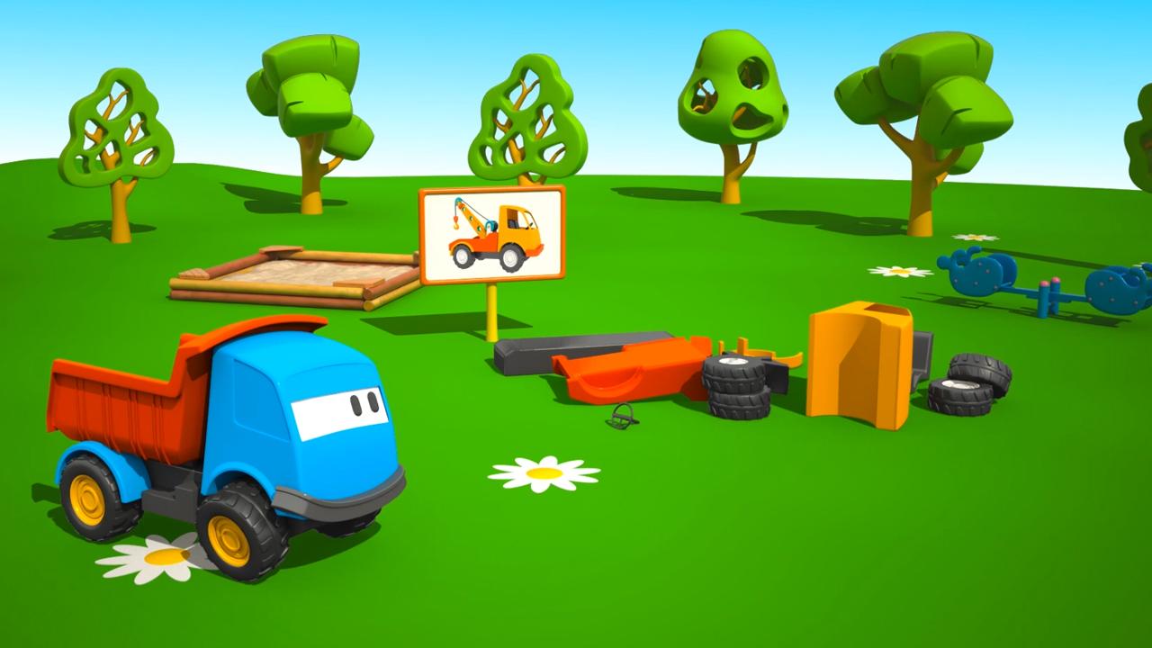 Cartoni animati per bambini leo il camion curioso e