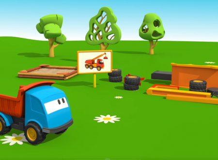 Cartoni Animati per Bambini: Leo il Camion Curioso e la Gru