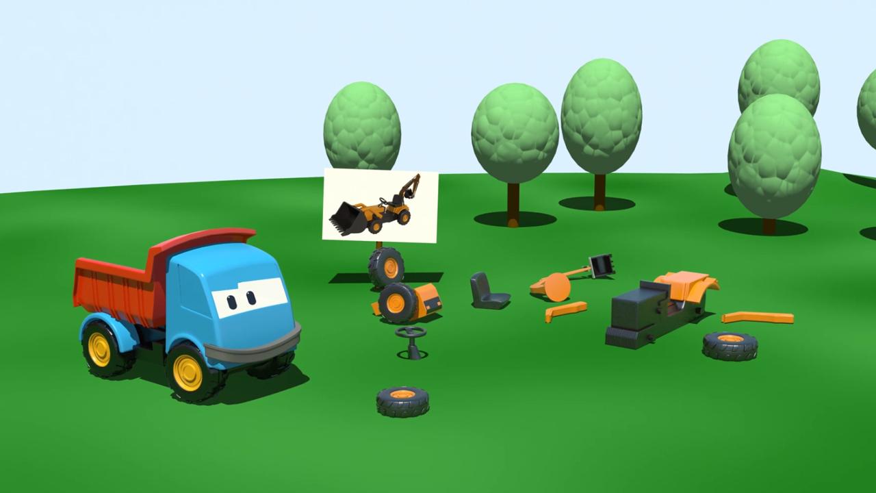 Cartoni Animati per bambini: Leo e la pala meccanica