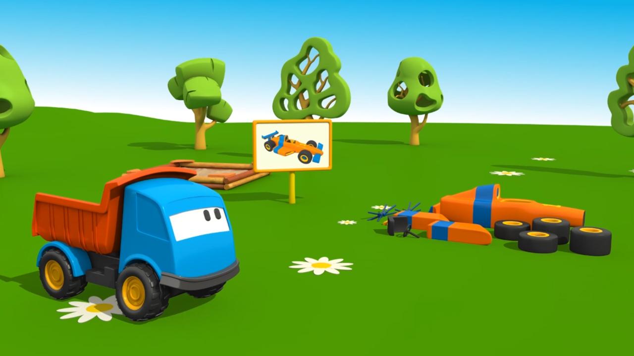 Cartoni Animati per bambini: Leo e le Macchine Sportive