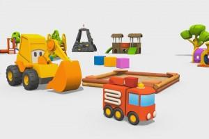 Cartoni Animati per Bambini: Max l'escavatore e il Camion dei Pompieri