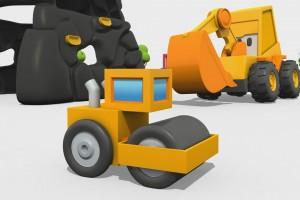 Cartoni Animati per Bambini – Max l'escavatore: come si costruisce un rullo compressore?