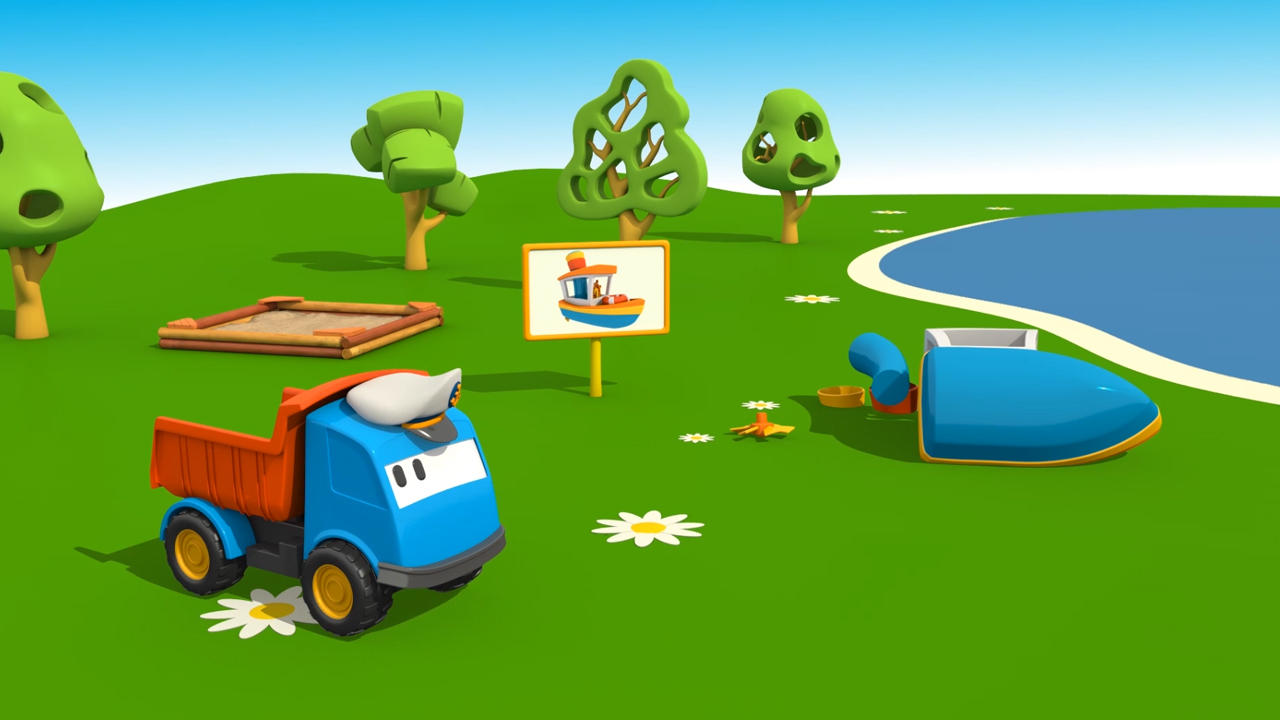 Cartoni Animati per bambini: Leo  e  la barca