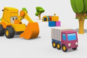 Cartoni Animati per Bambini: Max l'escavatore e il Camion dell'immondizia