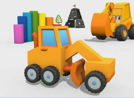 Cartoni Animati per Bambini – Max l'escavatore: come si costruisce una livellatrice?