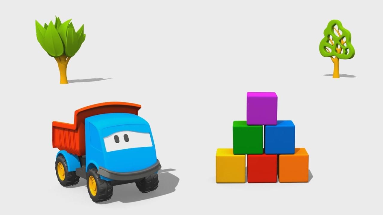 Cartoni Animati per bambini: Leo il Camion Curioso e la Torre di Costruzioni