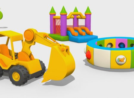 Cartoni Animati per Bambini – L'escavatore Max e la fantastica giostra: gli Aerei