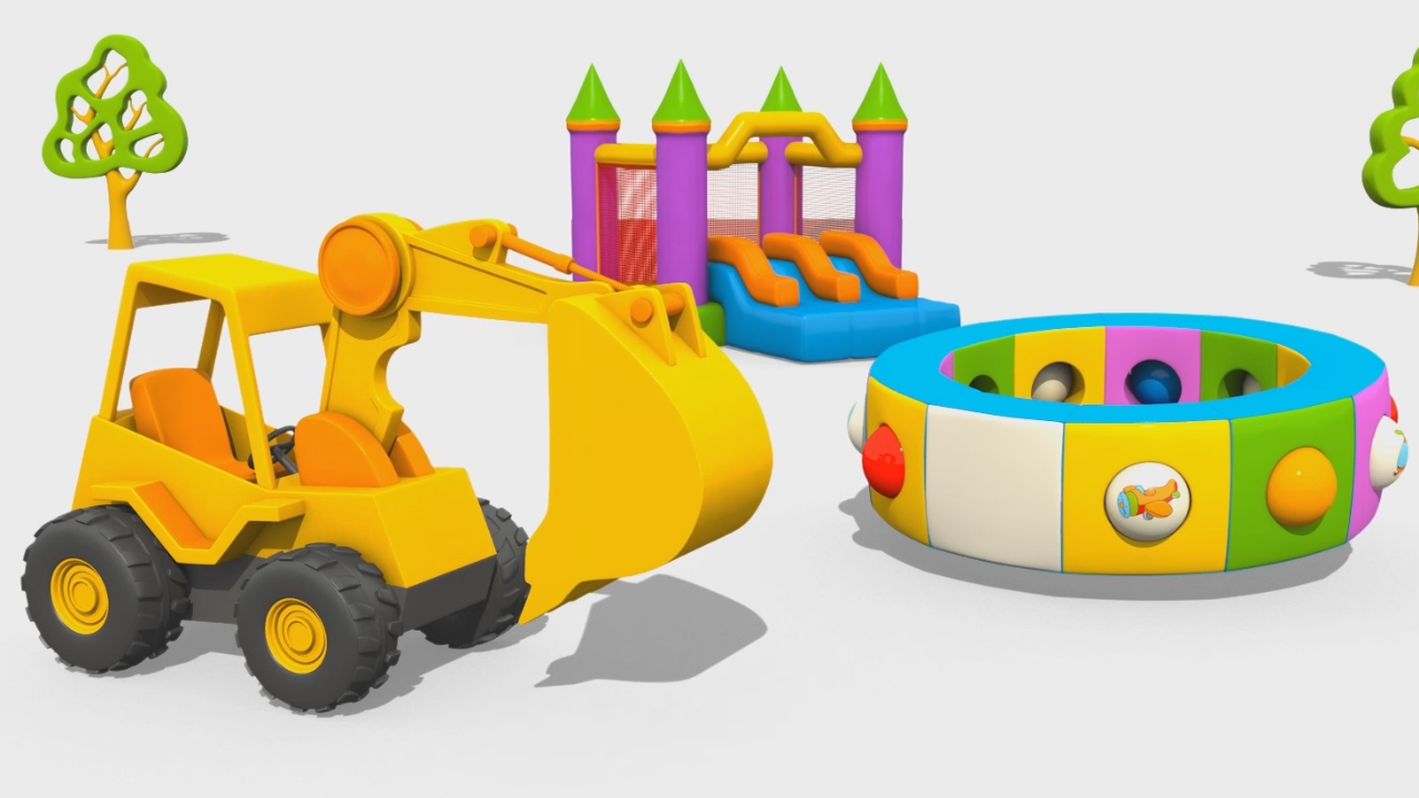 L'escavatore Max e i mezzi di trasporto