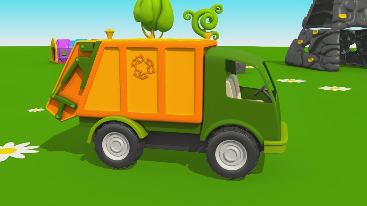 Leo il Camion Curioso: come fare il camion della spazzatura?