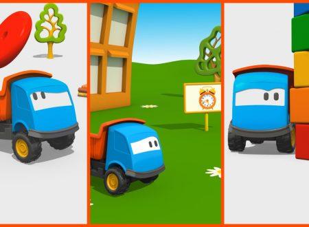 Cartoni Animati per bambini: Leo il Camion Curioso gioca con le costruzioni