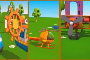 Cartoni animati per bambini: Leo il camion curioso gioca con i mezzi di trasporto