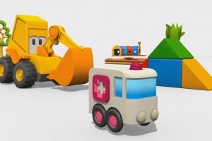 Cartoni Animati per Bambini – Max l'escavatore: come si fa un'ambulanza?