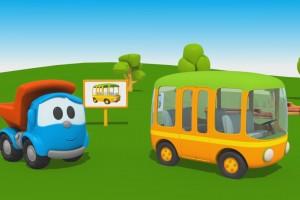 Cartoni Animati per Bambini – Leo Junior: come si fa un autobus?