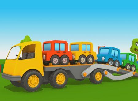 Cartoni Animati per Bambini – Leo il Camion Curioso: come fare il camion bisarca?