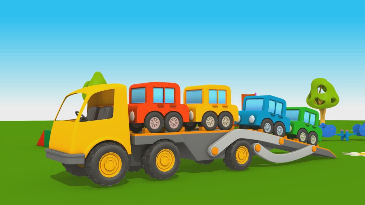 Leo il Camion Curioso: come fare il camion bisarca?
