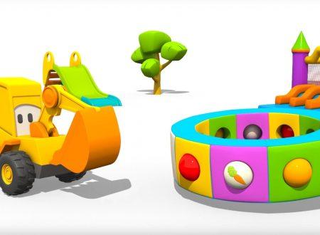 Cartoni Animati per Bambini – L'escavatore Max e la fantastica giostra: le verdure.
