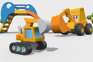 Cartoni Animati per Bambini – Max l'escavatore: come si fa una ruspa?