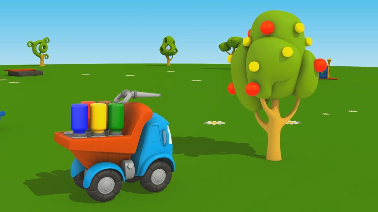 Leo Junior e l'albero di mele: coloriamo insieme