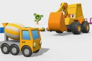 Cartoni Animati per Bambini – Max l'escavatore: come si fa una betoniera?