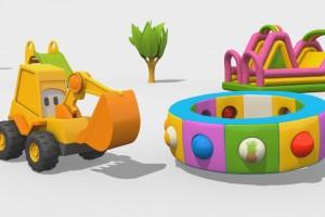 Cartoni Animati per Bambini – L'escavatore Max e la fantastica giostra: la frutta