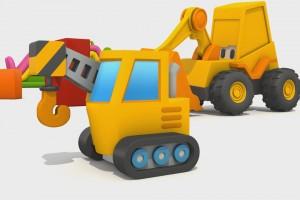 Cartoni Animati per Bambini – L'escavatore Max: Come si fa una gru?