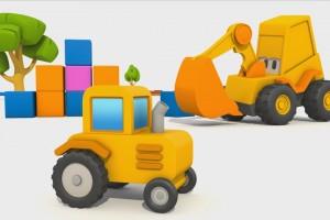 Cartoni Animati per Bambini – L' escavatore Max: come si fa un trattore?