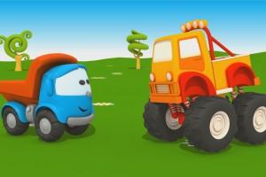 Cartoni animati per bambini – Camion Leo Junior e il Monster Truck