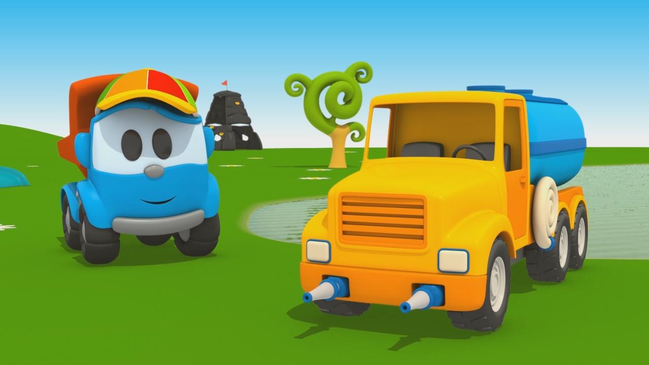 Leo Junior e l'autobotte