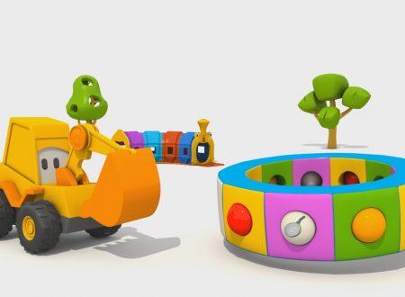 Cartoni Animati per Bambini – L'escavatore Max e la fantastica giostra: le stoviglie