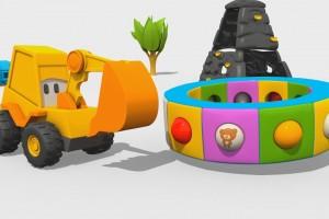 Cartoni Animati per Bambini – L'escavatore Max e la fantastica giostra: i giocattoli