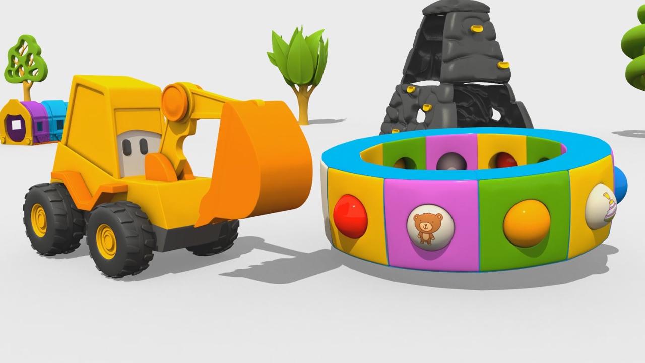 L'escavatore Max e la fantastica giostra: i giocattoli