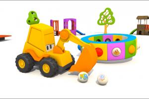Cartoni animati per bambini – L'escavatore Max e le scarpe