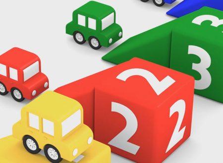 Macchinine colorate: colori e numeri