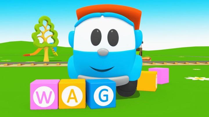 leo letters wagon cartoni animati per i bambini inglese per bambini imapara a contare