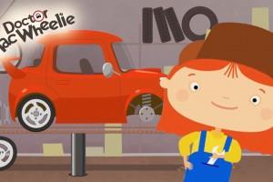 Cartoni animati: La Dottoressa Mac Wheelie e l'auto sportiva