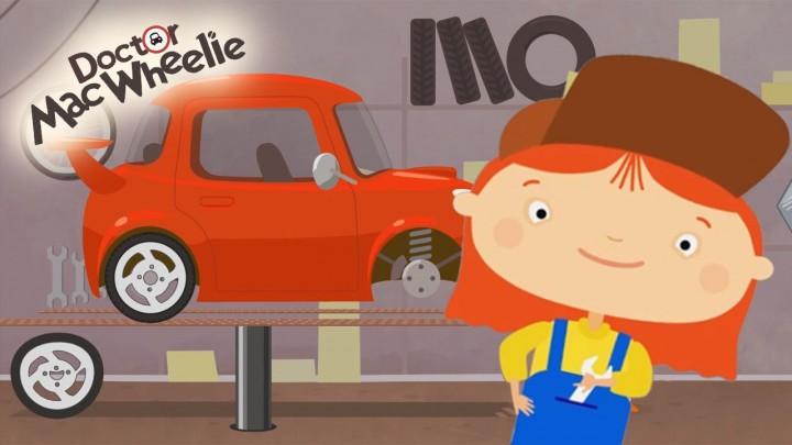 Cartoni animati la dottoressa mac wheelie e l auto sportiva