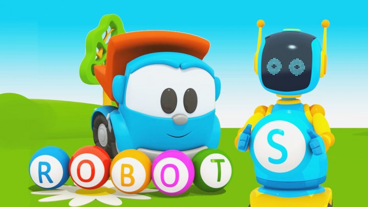 leo junior cartoni animati alfabeto per bambini robot lettera R 2