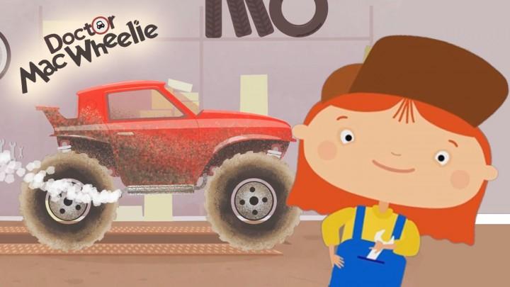 il Monster truck e l'autolavaggio della dottoressa Mac Wheelie