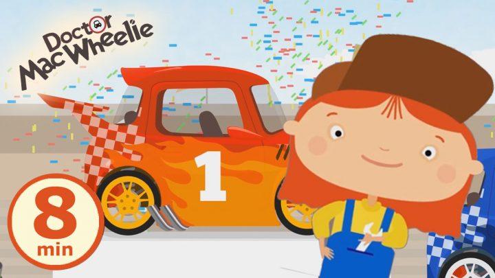 macwheelie compilation 2 avventure di macchinina rossa cartoni animati 8 min