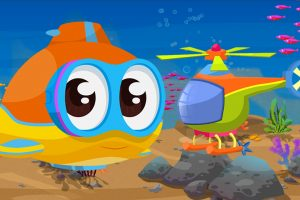 Oscar il sottomarino e un elicottero