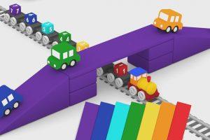 Macchinine colorate:il ponte ferroviario