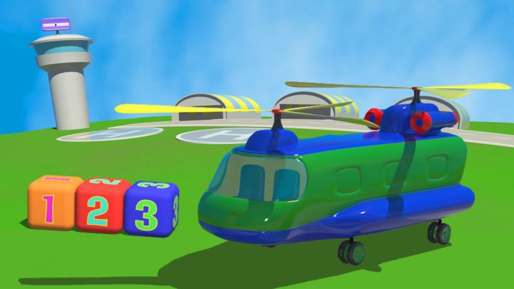 all'aeroporto l'elicottero cargo