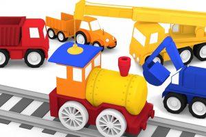 Macchinine colorate e il trenino a vapore