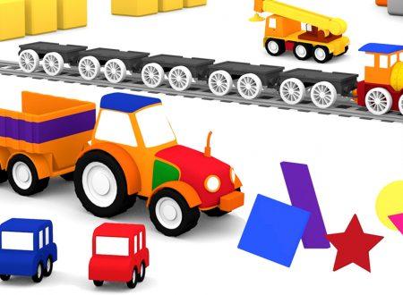 Le macchinine colorate e il trattore